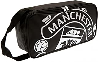 MANCHESTER UNITED FC BOOT BAG - OFFICIAL BAG (RT) - FEATURES TEAM COLORS AND CREST - IMPORTED - FOR ALL MANCHESTER UNITED SOCCER FANS - QUALITY TEAM BAG WITH CREST DESIGN - MANCHESTER UNITED BOOT BAG