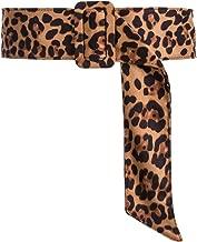 CHICING Velvet Leopard Belts for Women Trendy Obi Cinch Boho Fabric Belts Strap