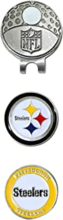 Team Golf NFL Pittsburgh Steelers Golf Cap Clip with 2 Removable Double-Sided Enamel Magnetic Ball Markers, Attaches Easily to Hats