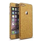 LAMINGO iPhone 8 Plus iPhone 7 Plus Glitzerfolie Skin Diamond Sticker Klebefolie in gold