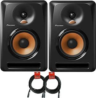 Pioneer DJ Bulit5 Active Reference 5-Inch Monitors - Black - Pair w/ 20ft XLR Cables - Bundle