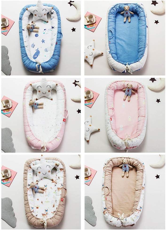 Reducteur de lit Bebe Cocon - réducteur Lit bébé, cale Bebe, Nid pour Nouveau-né Nourrisson Baby Nest, Cocoon 100% Coton (90 x 55 cm) / Baby Lounger 16 Baby Lounger 17