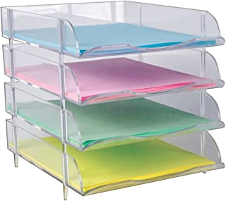 Azar Displays 255010 Stackable Clear Letter Trays, 9