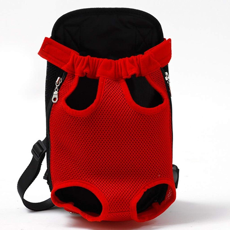 Pet Supplies Pet Bag Breathable Travel Pet Shoulder Chest Bag Pet Out Shoulder Bag Dog Backpack (color   Red, Size   41  25cm)