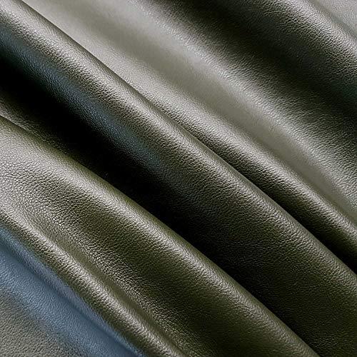 Werthers Stoffe Stoff Meterware Kunstleder Oliv Lederimitat Nappa Bezugsstoff stabil neu Möbelbezugsstoff