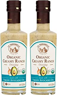 La Tourangelle Organic Creamy Ranch Dressing 8.45 Ounce Bottle (Pack of 2)