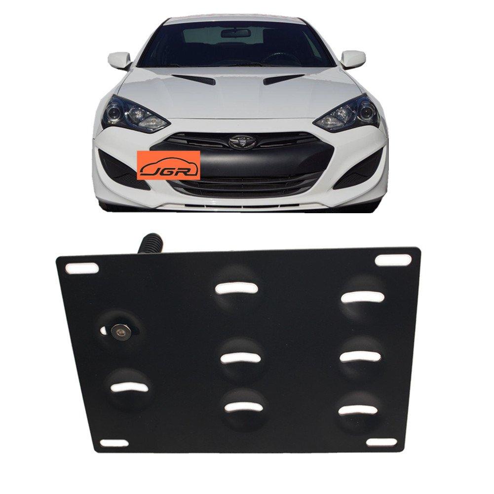 DEWHEL JDM Folding Screw On Racing T2 Tow Hooks Front Rear 10-16 Hyundai Genesis Coupe Black