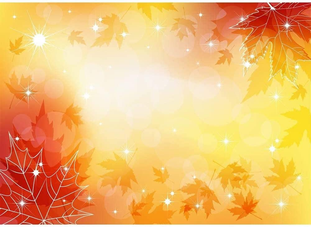 Backdrop/for Baby Shower 7x5 Glitter Dots Red Maple Fall Newborn Background for Thanksgiving Picture Photoshoot Vinyl Photographic Studio Backdrops for Kids