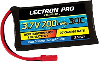 Lectron Pro 3.7V 700mAh 30C Lipo Battery with JST Connector for LaTrax Alias Quadcopter
