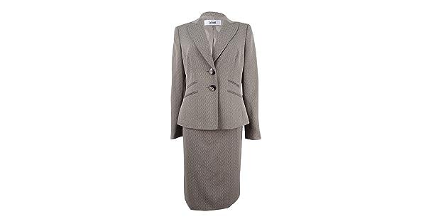 Le Suit Womens Plus Size Crossdye Melange 2 Button Skirt Suit Le Suit Women/'s Suits 50036685-4SK