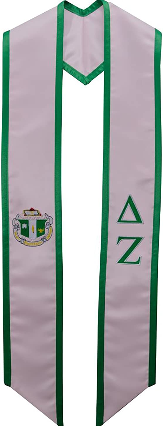 Delta Zeta New products, world's highest quality popular! Sorority Deluxe outlet Graduation Embroidered Stole
