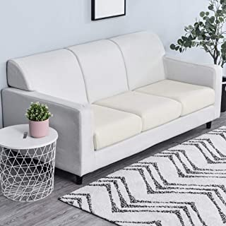 WINS Fundas de Cojines de sofá Funda para Asientos de Sofá Elástica Fundas de Sillón sofá Cojines de Asiento Protectora de sofá Blanco
