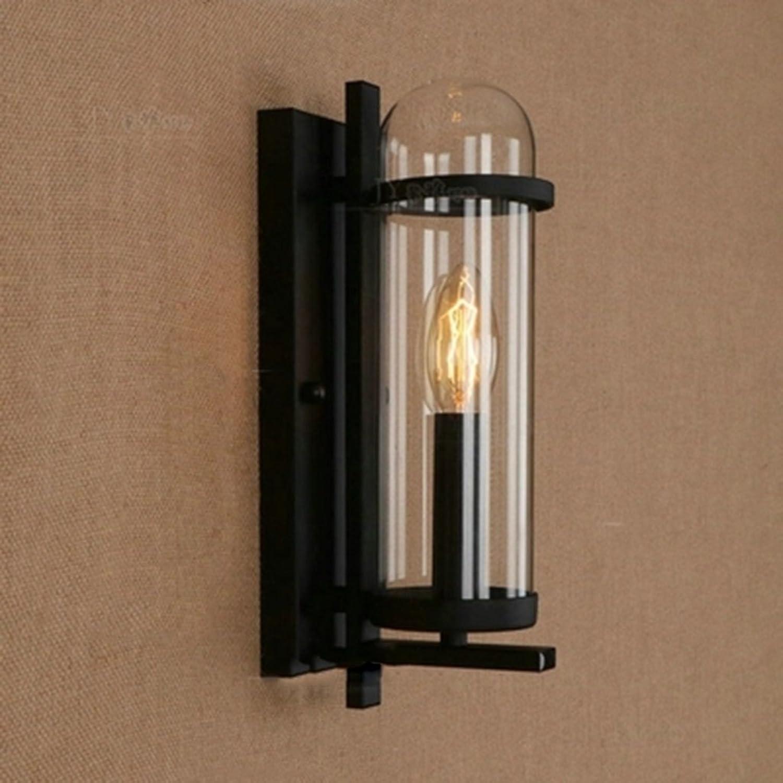 & Wandleuchten Wandleuchte - Kreatives Wohnzimmer Schlafzimmer Retro Bedside Cafe Schlafzimmer Nachttisch Hotel Glaswandlampe Dekorative Lampen (gre   Short section)