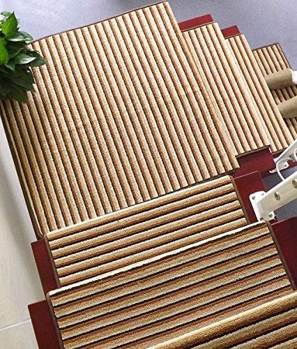 Europea - Stile Scala Tappeto Passaggio Pad in massello Anti - Scivolo Auto - Autoadesivo - Adesivo Rettangolare Scala Pad (Colore : D, Dimensioni : 65 * 24+3cm)