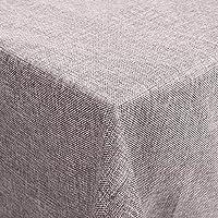 Desconocido Femor Manteles Efecto Loto Impermeable Resistente a Las Manchas Cuidado Fácil Lavable Mantel de Lino 150 x 200 cm (Gris)