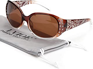 Retro Oval Sunglasses for Fashionable Women, Vintage Sun Glasses with Polarized Lenses UV400...