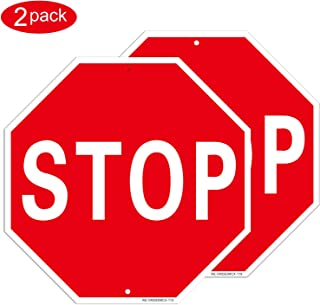 MUXYH Stop Sign Street Road Warning Reflective Sign 2 Pack, 12