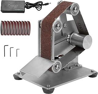 Mini Electric Belt Sander,KKmoon Multifunctional Grinder for DIY Polishing Grinding Cutter Edges Sharpener (Type B)