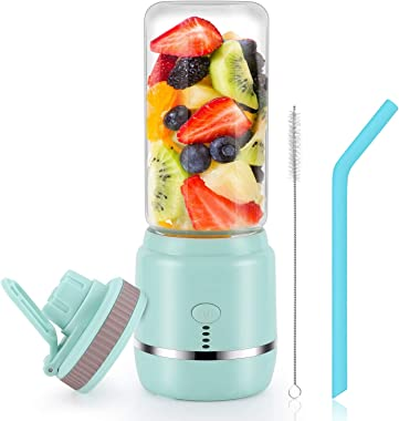 Portable Blender, Personal Blender, Mini Juicer Cup USB Rechargeable and Personal Size Blender Smoothies akes,402ml,Fruit Jui