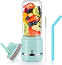 Portable Blender, Personal Blender, Mini Juicer Cup USB Rechargeable and Personal Size Blender Smoothies akes,402ml,Fruit ...