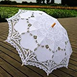 ESHOO Vintage Cotton Lace Parasol Umbrellas for Bridal Wedding Party Decoration Photo Props