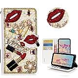 Xifanzi Wallet UMIDIGI A5 Pro Bling Case Jewelry Pearl PU