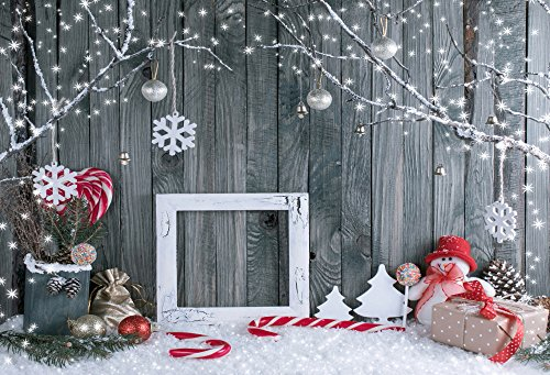 HUAYI 7x5ft Christmas Photo Backdrop for Pictures Photography Background Christmas Party Wall Family Children Kids Photo Booth Backdrops Photo Shoot Xt-6315