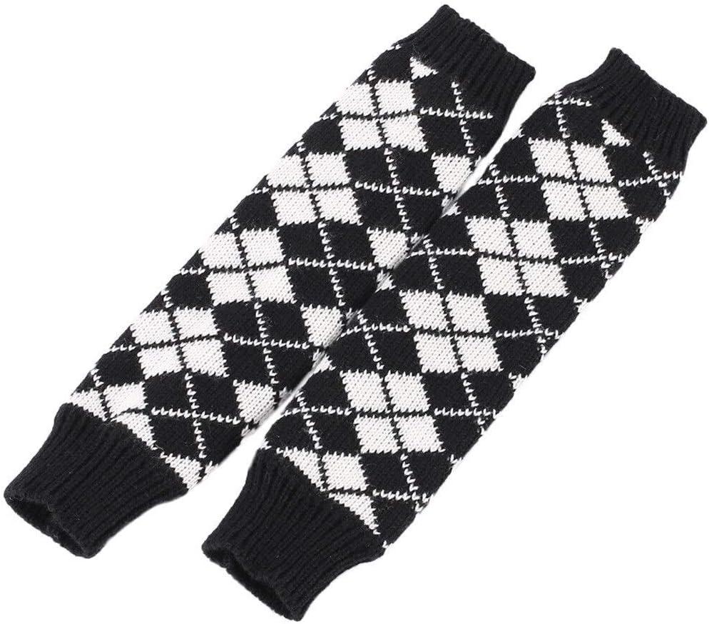 FASGION Women Winter Arm Wrist Warm Sleeves Fingerless Stretch Knit Mittens Long Gloves Warmer Stretch Knit Mittens Touch Screen guantes (Color : White)