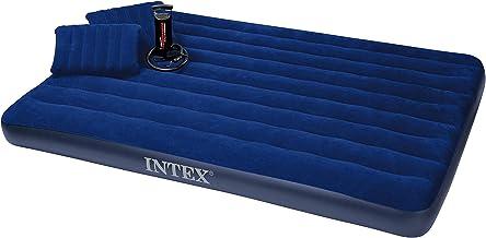 سرير هوائي قابل للنفخ مع مضخة يدوية ووسادتان من انتيكس