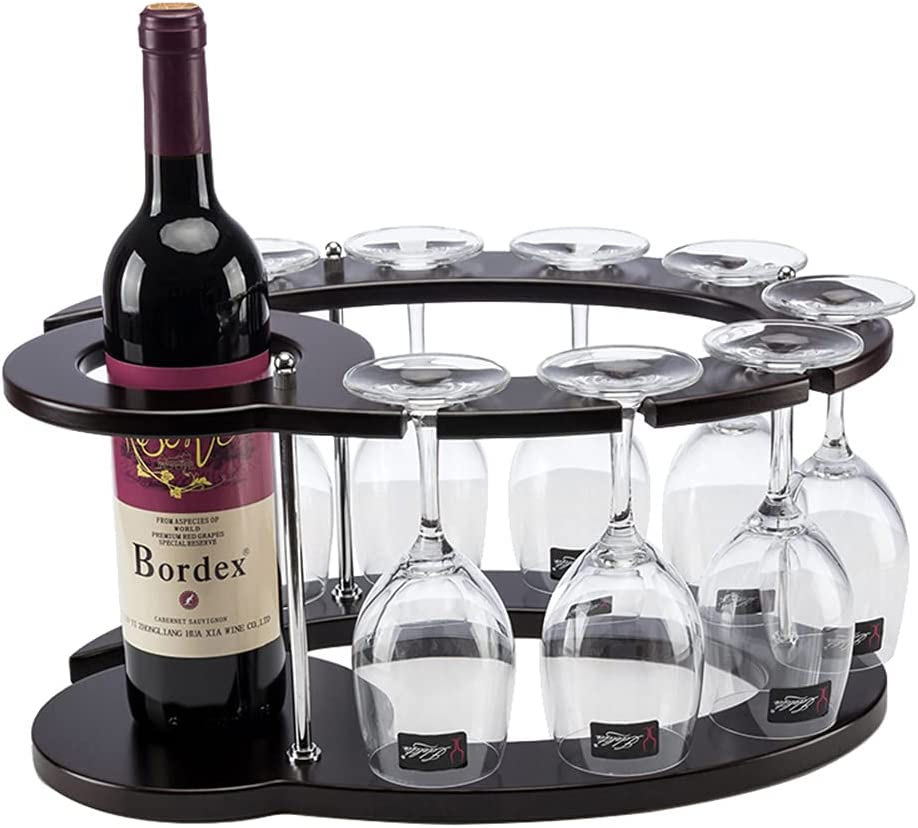 Removable NEW Freestanding Wine Glass Countertop Brand new Wood Holder Gl