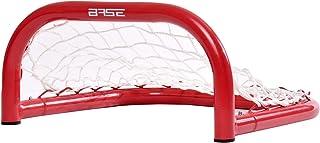 Base Barn 33 cm (33 x 36 x 18) I utomhus metallram I Tor för hockeybollar & pucks I streetockey-träning | skidbollar, röd-...
