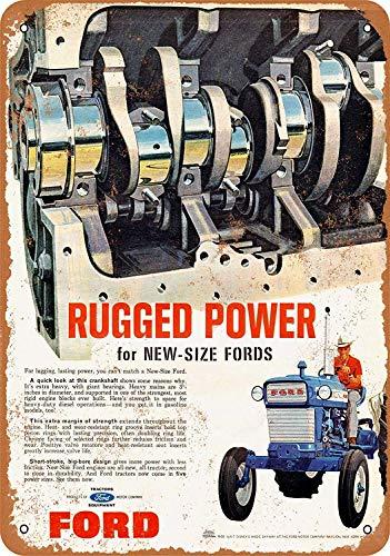 Treasun metalen bord - vintage look 1965 Ford trekkers 8 x 12 inch