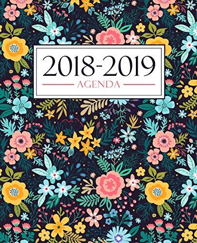 Agenda 2018-2019: 190 x 235 mm : Agenda 2018-2019 semana vista español : 160 g/m² : Agenda semanal 12 meses: Estampado floral 3704