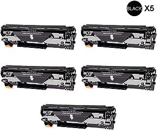 HPレーザージェットCC388A M1136 M1213nf M1216nfh M1218nfs M1219nfと互換性のある5パックブラックトナーカートリッジプリンターカートリッジオフィス用品コンピューターアクセサリー