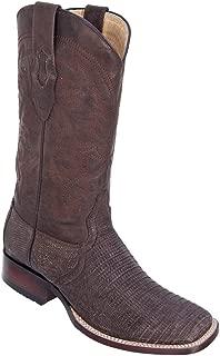 Genuine Lizard Teju Distressed Brown Wide Square Toe Los Altos Men's Western Cowboy Boot 8220735