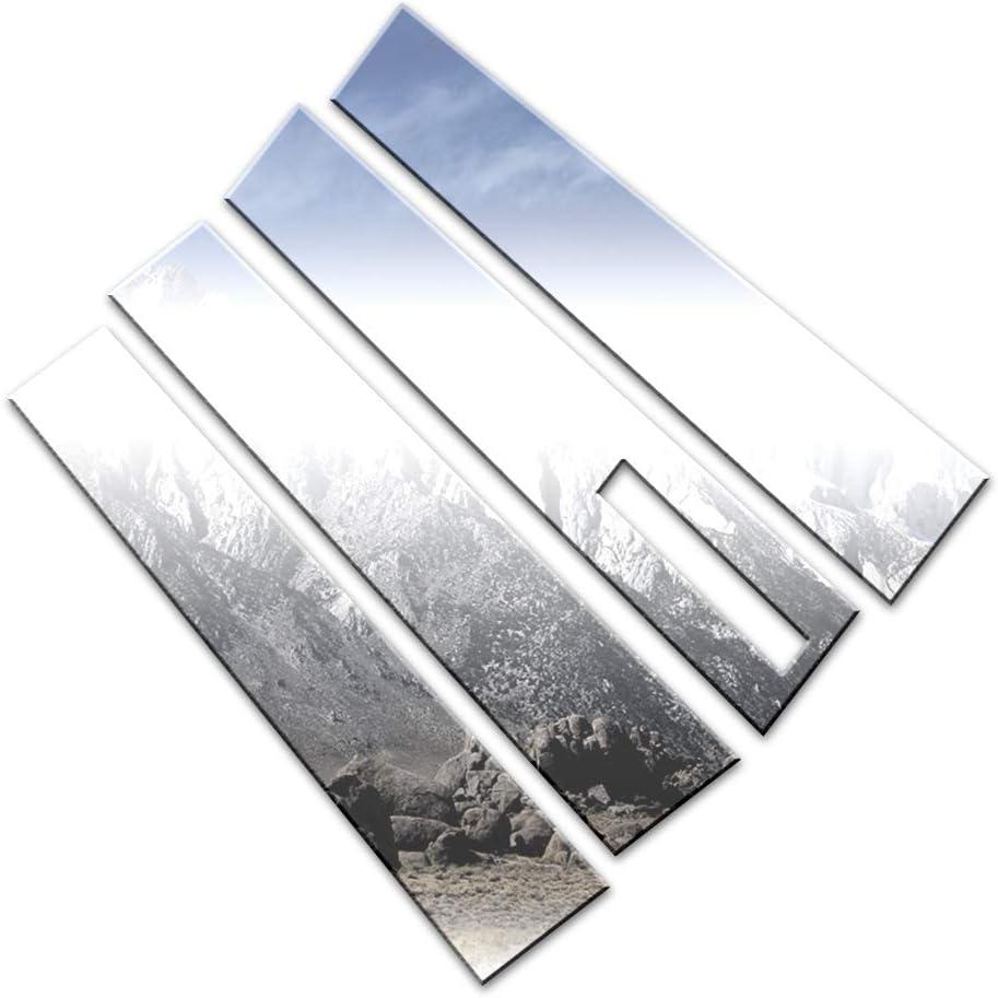 Brighter Department store Design 4pc. Chrome Pillar Overseas parallel import regular item Post Lincoln fit MKT Set for