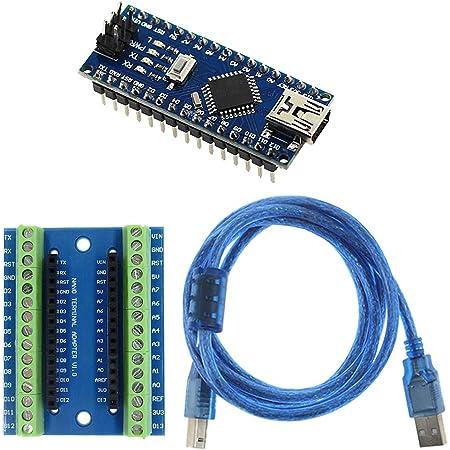 Arduino USB Nano V3.0 ATmega328 5V 16M Micro-Controller Board+Terminal Adapter