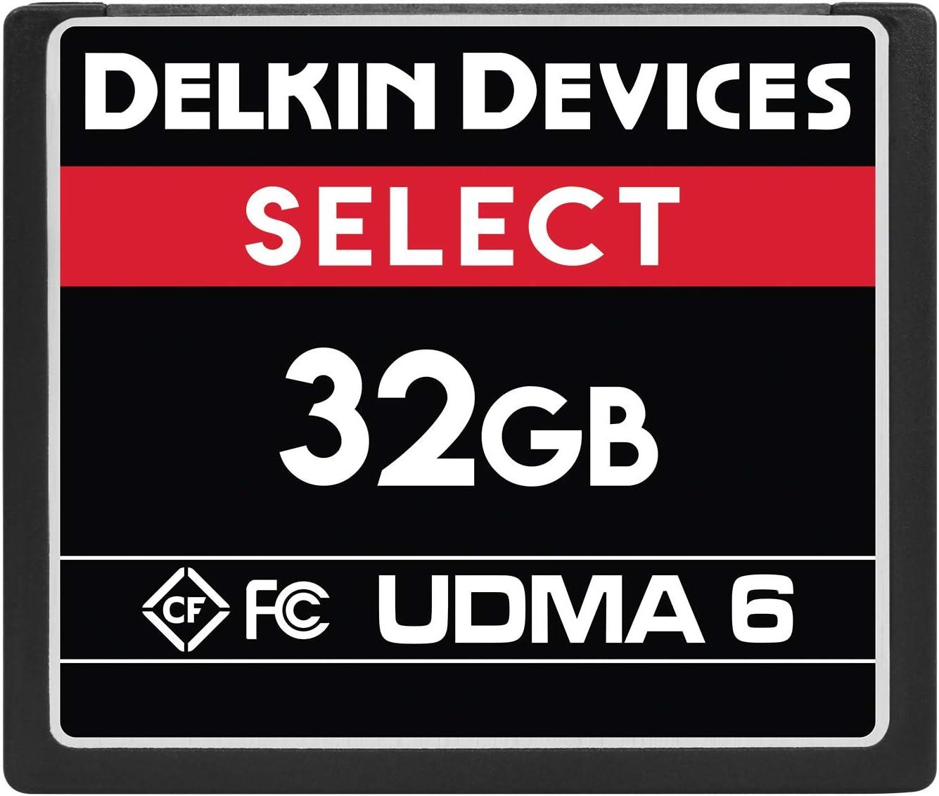 Delkin Devices 32GB Select CompactFlash UDMA 6 Memory Card (DDCFR50032GB)