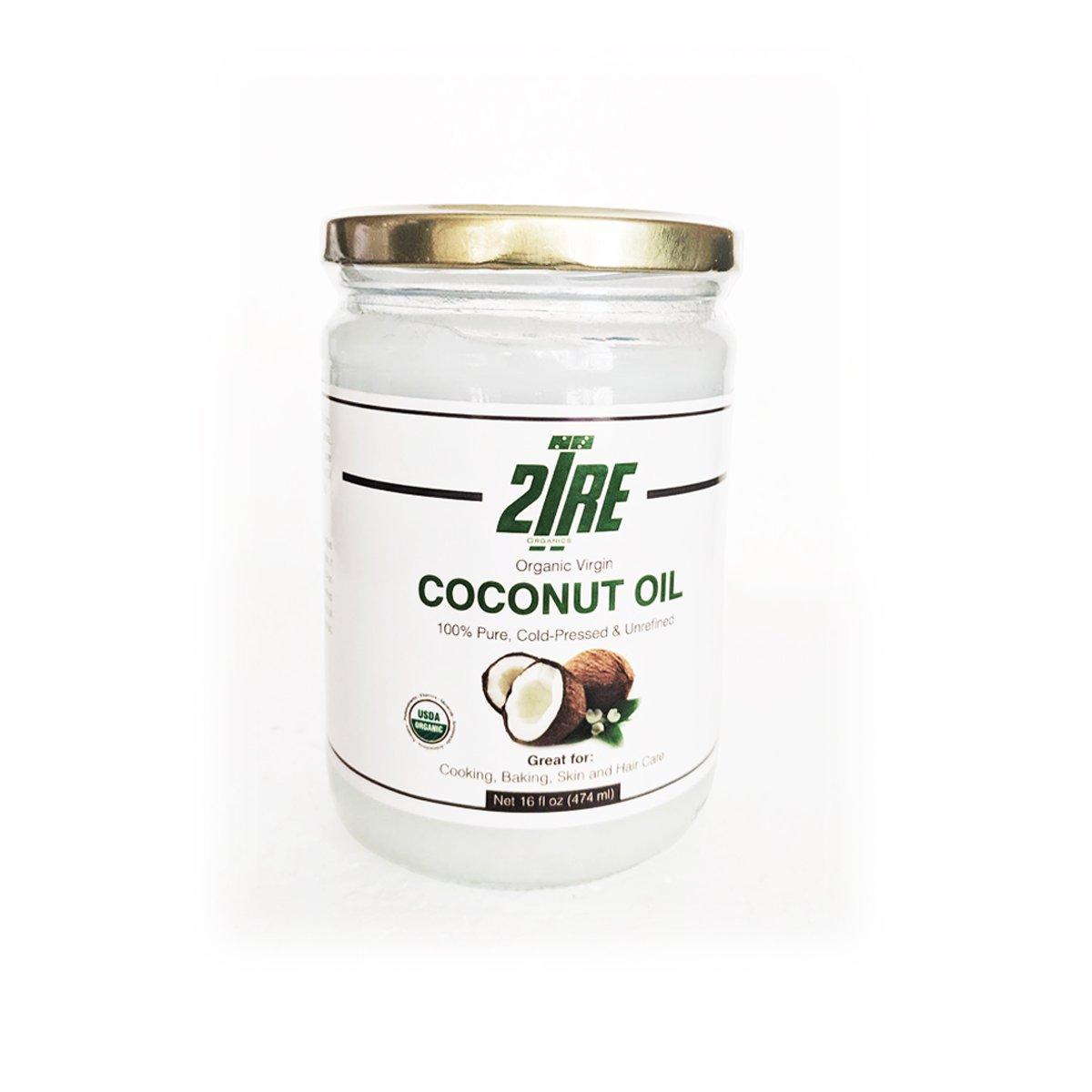 2Tre Organic Extra Virgin Coconut Oil - C Max 52% OFF Cold Pressed Discount mail order Unrefined