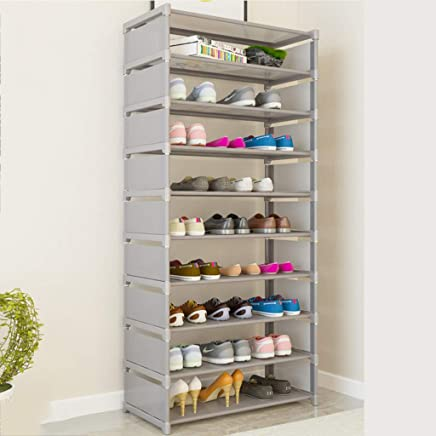 Robusto y ahorro de espacio f/ácil de montar Adolenb 4 niveles de almacenamiento de calzado ajustable Organizador de bastidores Estante Estante Soporte para zapatos