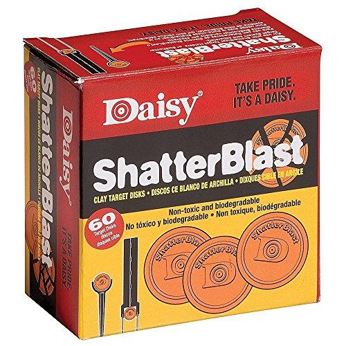 Daisy Shatterblast Breakable Refill Target 2' Disks (60 Pack)