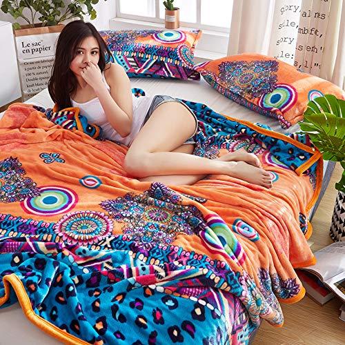 Doux décoratifs de grand luxe canapé lit couverture jeter de voyage animal taille 130 x 180 cm