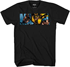 Marvel Logo Wolverine Avengers X-Men Super Hero Adult Graphic Men's T-Shirt