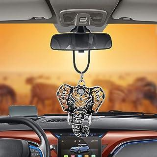 مردان یا خانمهای Libloop که از تزیینات مخصوص آینه اتومبیل یا کامیون آویزان هستند (سر فیل)