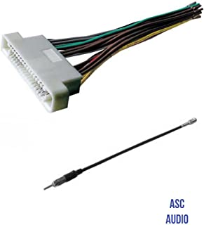 ASC Audio Car Stereo Radio Wire Harness and Antenna Adapter to Aftermarket Radio for some 2000-2006 Buick LeSabre, 2001-2003 Oldsmobile Aurora, 2000-2005 Pontiac Bonneville- No Factory Bose/Amp,