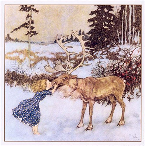 Vintage 'Gerda and the Reindeer' Christmas Cards \ 5 Cards and Envelopes