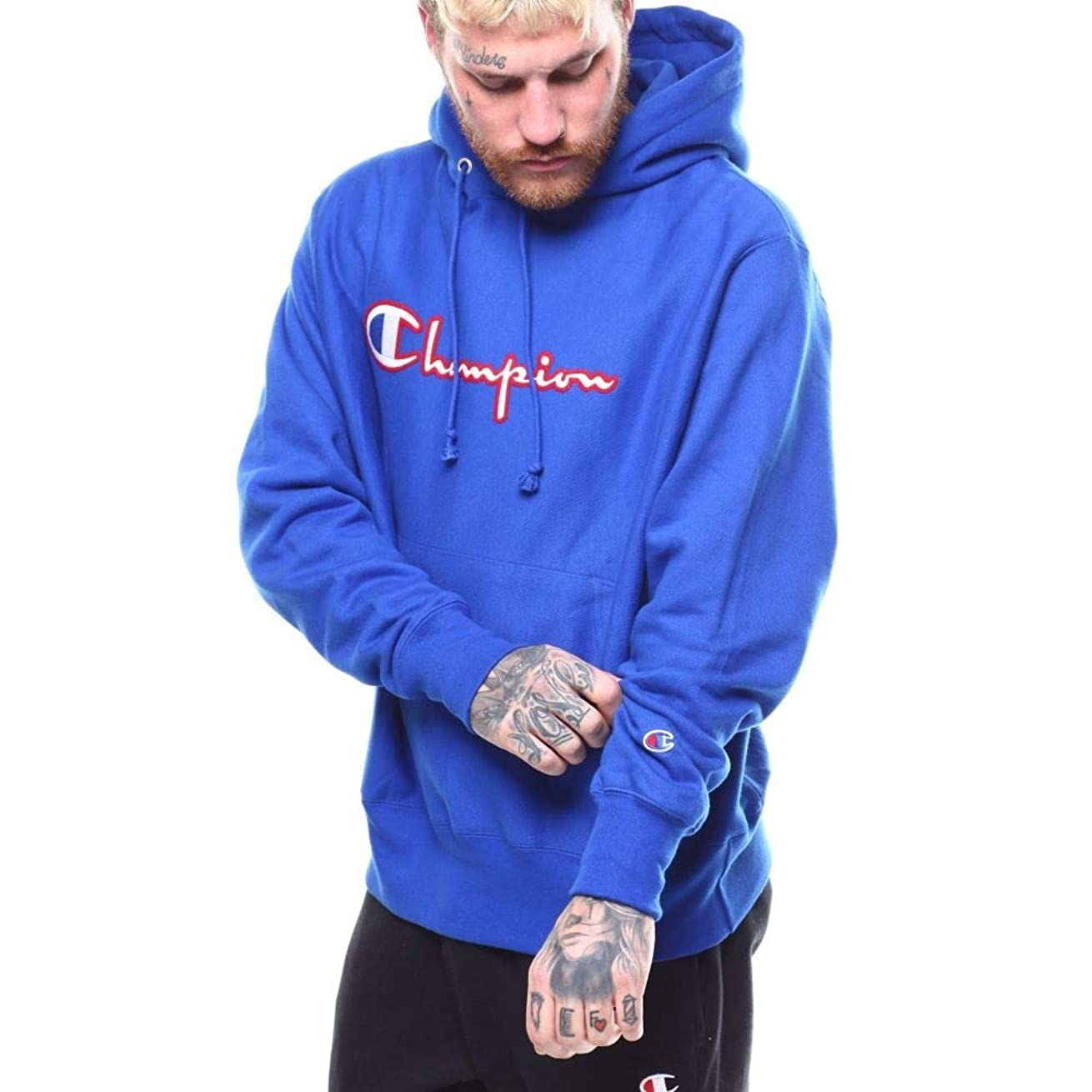 はげ悪用暴君(チャンピオン) Champion メンズ トップス パーカー reverse weave pullover hoodie felt & embroidery stitch [並行輸入品]