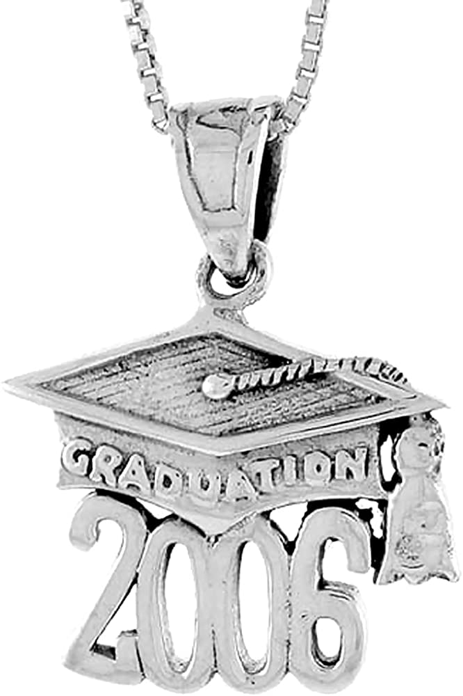 Sterling Discount is also underway Silver Fashionable 2006 Graduation Hat i 3 Mortarboard 4 Pendant