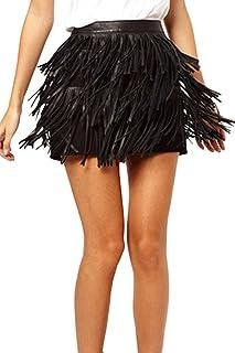 a2ce4708 Amazon.es: Faldas Con Flecos - S / Faldas / Mujer: Ropa