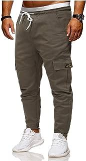 MogogoMen Oversize Stretch Solid Pocket Front Workout Pant